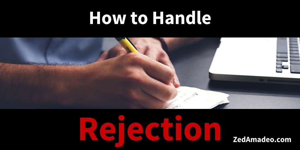Getting a piece of your writing rejected isn't fun, but it can be helpful. | Zed Amadeo
