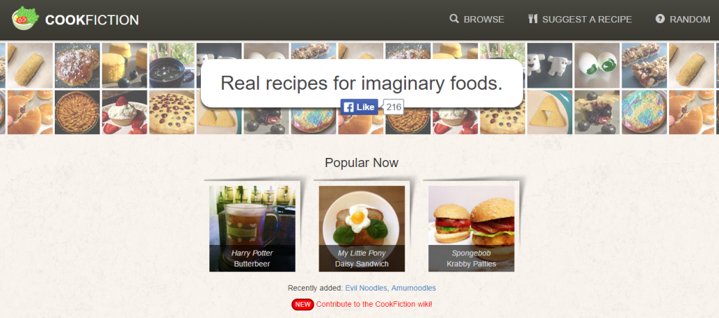 Cookfiction | Real recipes for imaginary foods.Real recipes for imaginary foods.